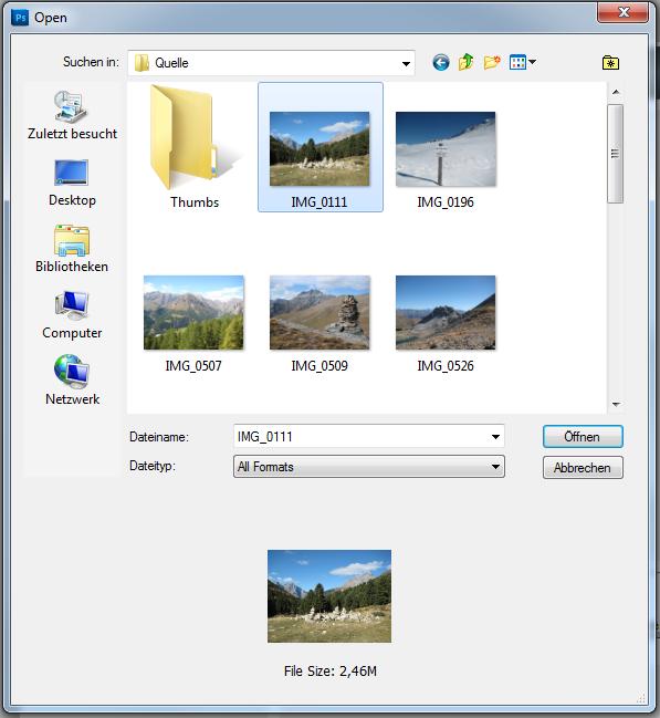 Photoshop Automatisierung Ordner
